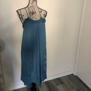 Silky, flowy teal dress from Zara. Size M